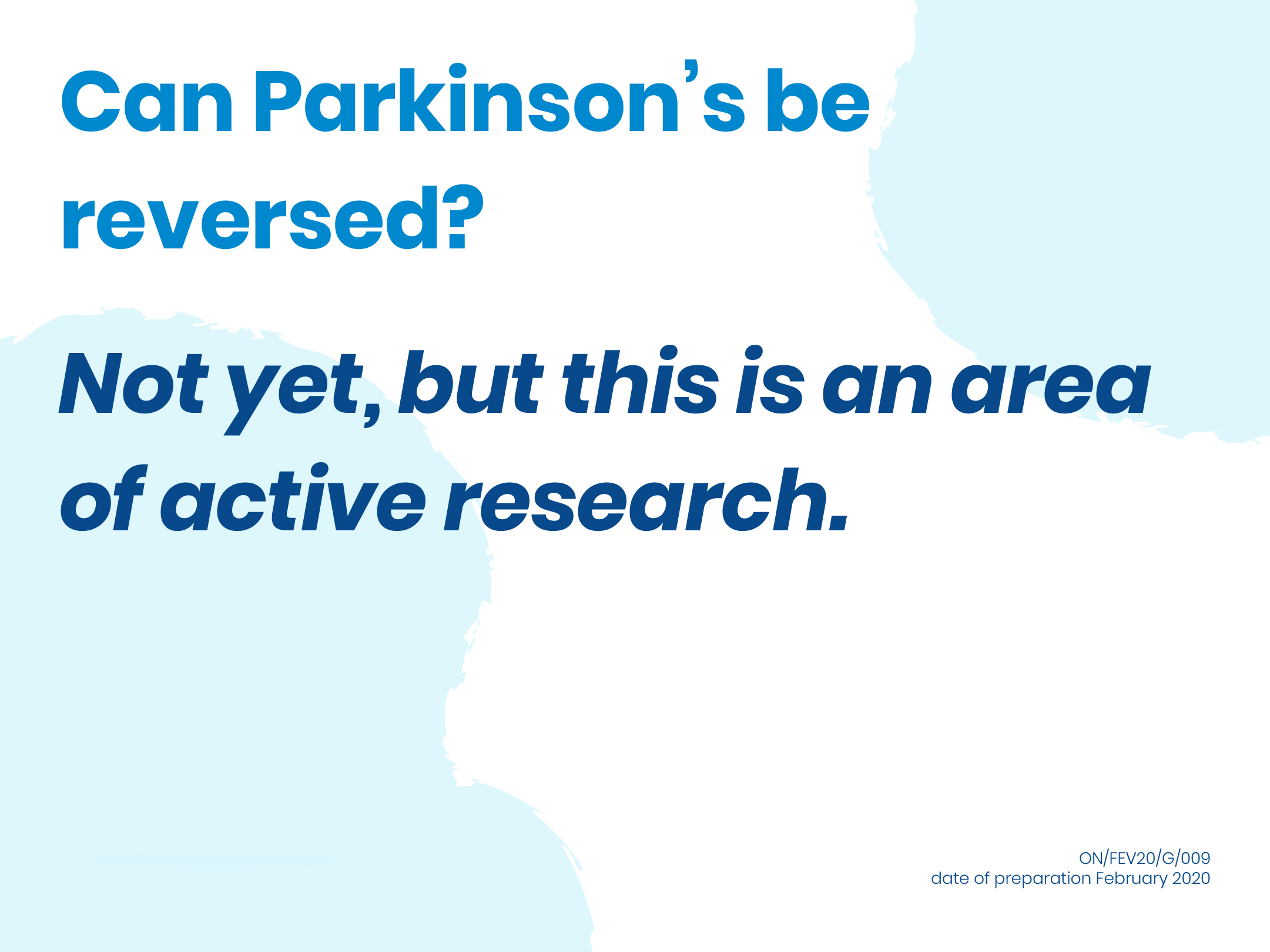 Can Parkinson's be reversed?