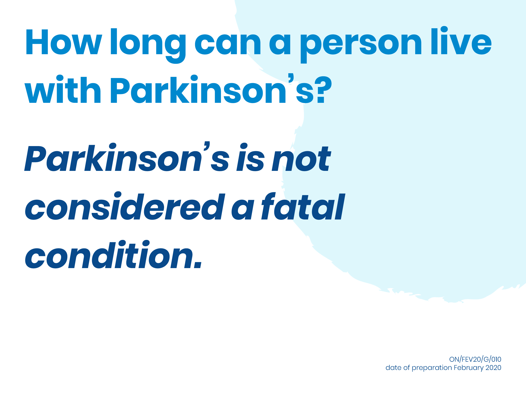 How long can patients live with Parkinson's?